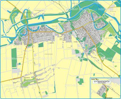 Hiszi Map Kft T Bekes Megye County Gyomaendrod Terkep