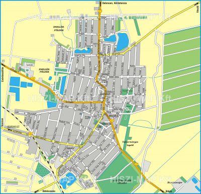 Hiszi Map Kft T Bekes Megye County Mezobereny Terkep