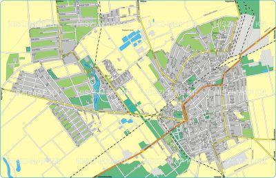 Hiszi Map Kft T Bekes Megye County Oroshaza Terkep Tajolo