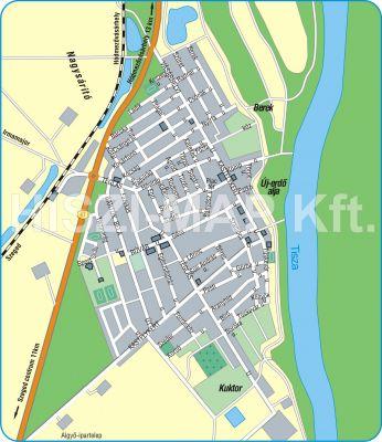 Hiszi Map Kft T Csongrad Megye County Algyo Terkep