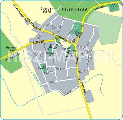 Hiszi Map Kft T Csongrad Megye County Ruzsa Terkep