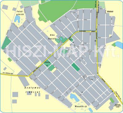 Hiszi Map Kft T Csongrad Megye County Sandorfalva Terkep