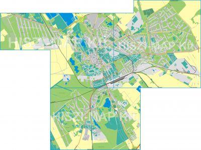Hiszi Map Kft T Fejer Megye County Szekesfehervar Terkep Tajolo