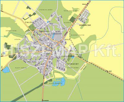 Hiszi Map Kft T Hajdu Bihar Megye County Derecske Terkep