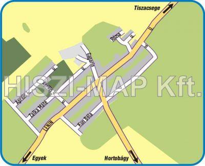 Hiszi Map Kft T Hajdu Bihar Megye County Egyek Telekhaza Terkep