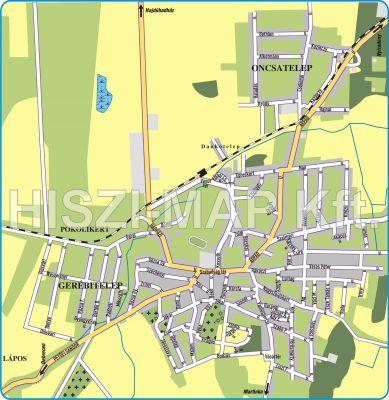 Hiszi Map Kft T Hajdu Bihar Megye County Hajdusamson Terkep