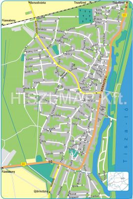 Hiszi Map Kft T Heves Megye County Poroszlo Terkep