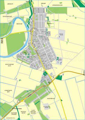 Hiszi Map Kft T Jasz Nagykun Szolnok Megye County Fegyvernek Terkep