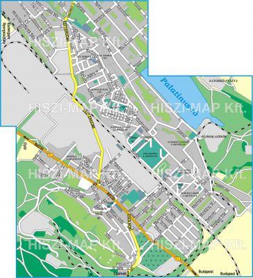 Hiszi Map Kft T Komarom Esztergom Megye County Dorog Terkep