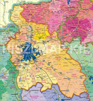 Hiszi Map Kft T Pest Megye County Pest Megye Terkep