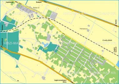 Hiszi Map Kft T Pest Megye County Cegled Terkep Eszak