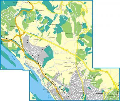 Hiszi Map Kft T Pest Megye County Vac Terkep Eszak