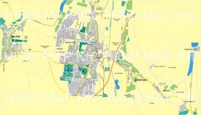 Hiszi Map Kft T Tolna Megye County Bonyhad Terkep