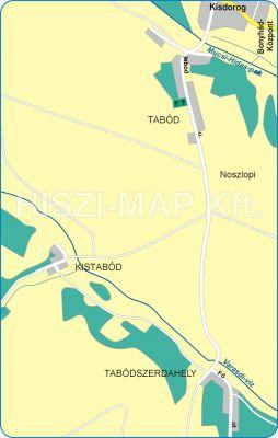 Hiszi Map Kft T Tolna Megye County Bonyhad Tabod Terkep