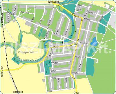 Hiszi Map Kft T Tolna Megye County Ocseny Terkep