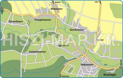Hiszi Map Kft T Vas Megye County Oriszentpeter Terkep