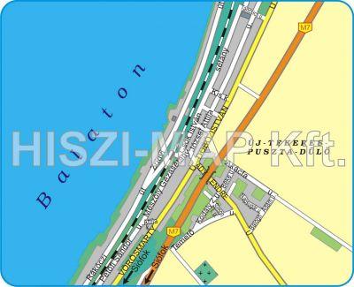 Hiszi Map Kft T Veszprem Megye County Balatonvilagos Terkep