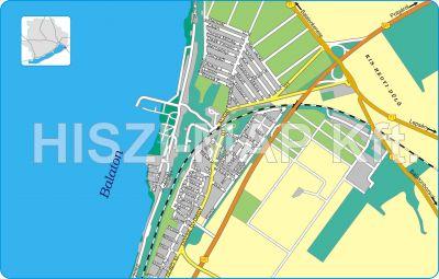 Hiszi Map Kft T Veszprem Megye County Balatonvilagos