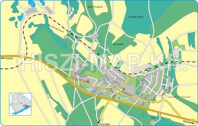 Hiszi Map Kft T Veszprem Megye County Herend Terkep