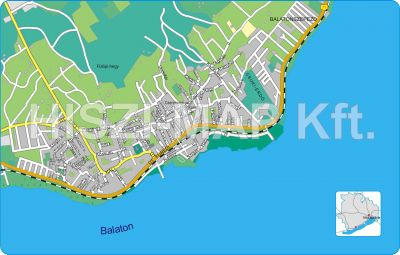 Hiszi Map Kft T Veszprem Megye County Revfulop Terkep