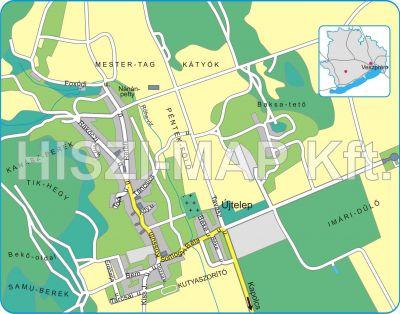 Hiszi Map Kft T Veszprem Megye County Taliandorogd Terkep