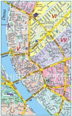 Hiszi Map Kft T Budapest V Kerulet Terkepe Belvaros V