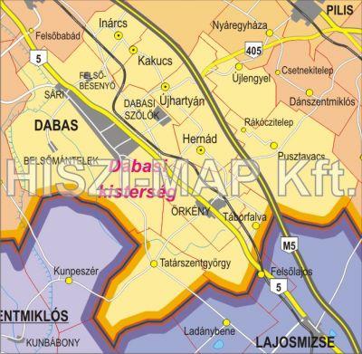 Hiszi Map Kft T Pest Megye Terkepe Dabasi Kisterseg