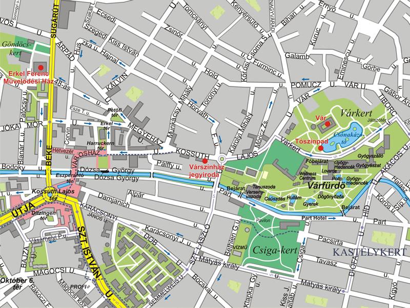 térkép gyula Gyulai Várszínház helyszíneinek térképe   Hiszi Map Kiadó Kft. térkép gyula