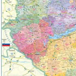 f6cebf66464b Magyarország közigazgatási térképe - Magyarország megyéi, járásai és  települései - Térkép © : TÉRKÉP Kft. - HISZI_MAP