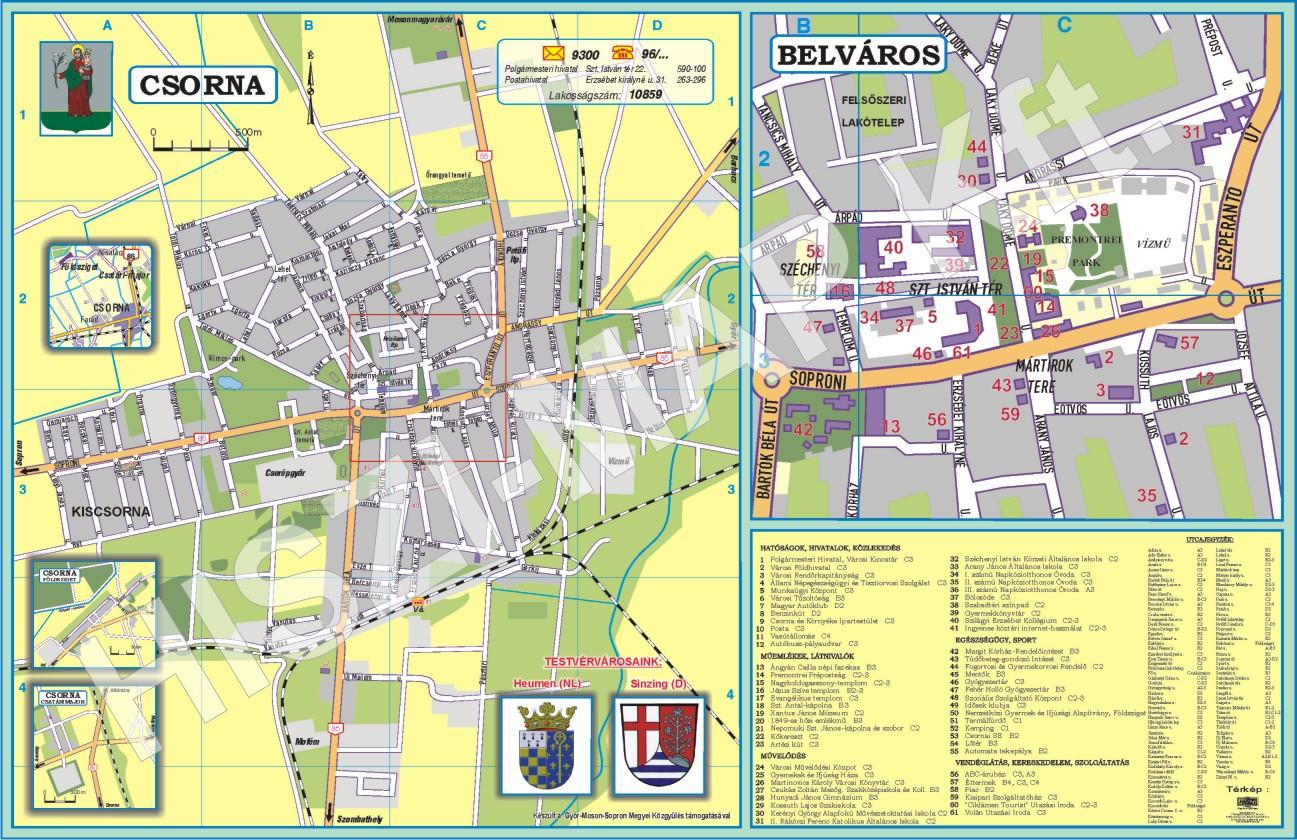 csorna térkép Egyedi térképek | A HISZI – TÉRKÉP honlapja csorna térkép