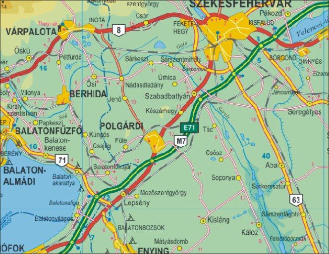 térkép magyarország autós Grafikus térképek | A HISZI – TÉRKÉP honlapja térkép magyarország autós