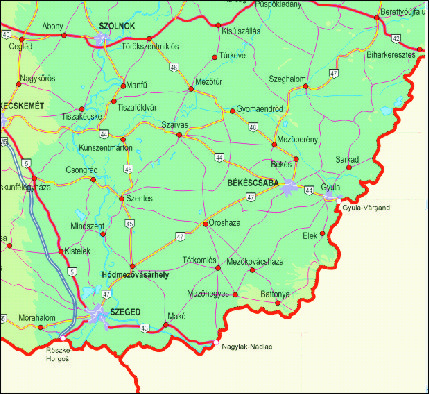 magyarország térkép gyula Grafikus térképek | A HISZI – TÉRKÉP honlapja magyarország térkép gyula