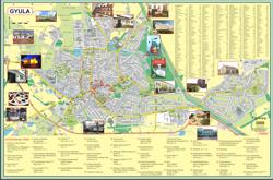 Elkészítettük Gyula város nevezetességeit, illetve a tábla másik oldalán Gyula és környékének térképét tartalmazó, térképes, kültéri információs táblánkat, amely a Gyulai Tourinform Iroda elé került kihelyezésre.
