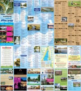 Békés megye horgász, kerékpáros és loavas térképének hátoldala.