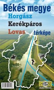 Békés megye horgász, kerékpáros és lovas térképe