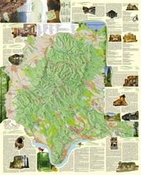 A Börzsöny turisztikai információs térképének elülső oldala. A képre kattintva megtekintheti a térkép online változatát.