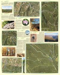 A Börzsöny turisztikai információs térképének hátoldala. A képre kattintva megtekintheti a térkép online változatát.