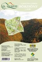 A Börzsöny-hegység 1:40 000-es léptékű turisztikai információs térképének hátsó borítója.