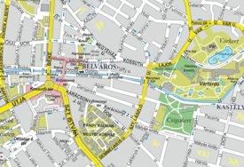 """Gyula applikáció kétféle térképet használ: off-line üzemmódban a HISZI-TÉRKÉP Gyula városáról forgalomban lévő ún. """"szép térkép""""-ét, on-line üzemmódban pedig a Google Maps-ot. De mivel a Google Maps eredeti térképi alapjai a HISZI-MAP térképeiből származnak, ezért tulajdonképpen off-line és on-line üzemmódban is a térképi alapok a HISZI térképekhez kötődnek. A képre kattintva megtekintheti az online térképet."""
