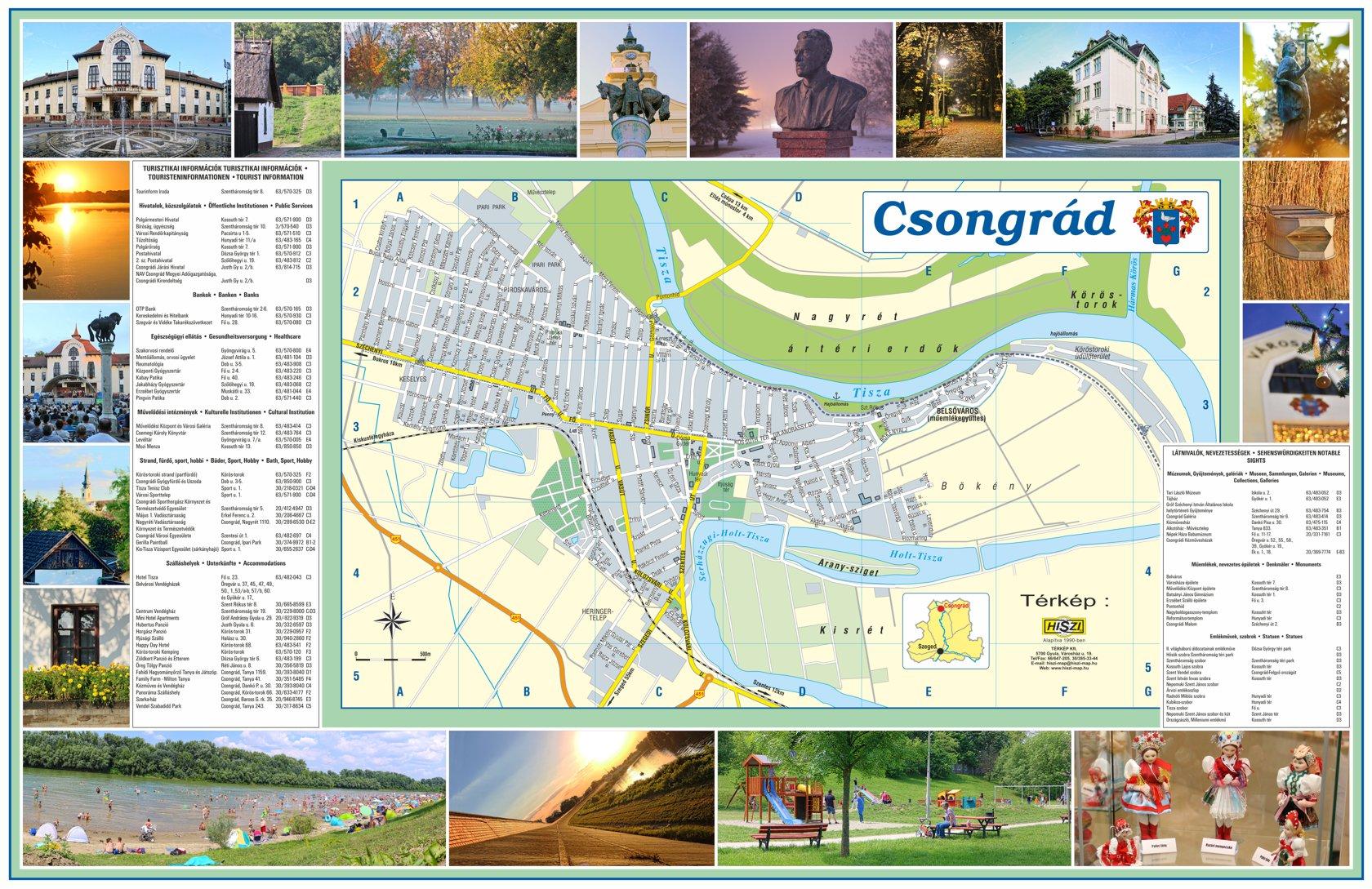 Csongrád város információs térképe