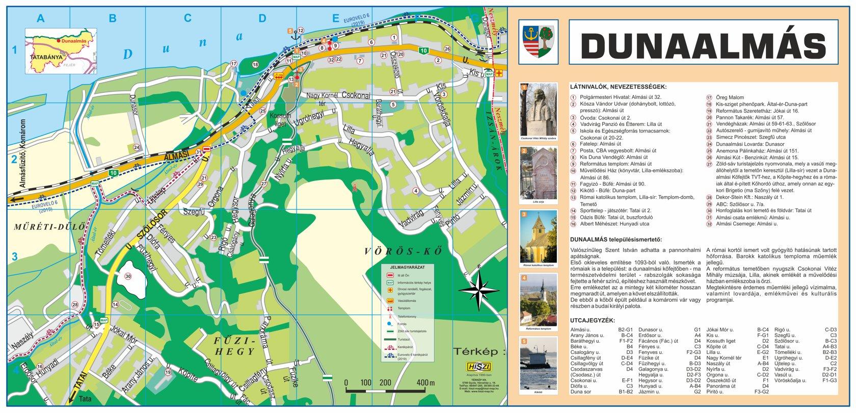 Dunaalmás információs térképe