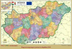 magyarország körzetszámok térkép Magyarország járás térképe ma és a 19 20 sz. fordulóján | A HISZI  magyarország körzetszámok térkép